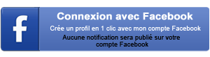 Inscription avec Facebook